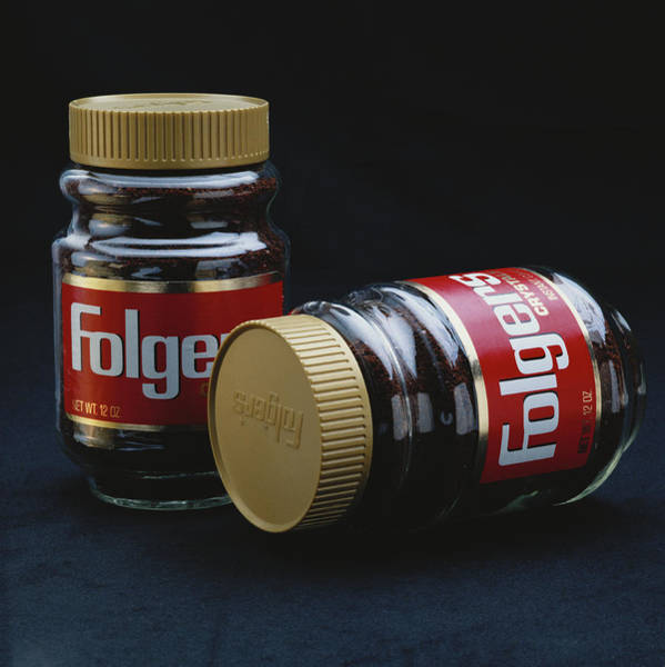 1983 Photograph - Instant Coffee Bottle On Black by Tom Kelley Archive