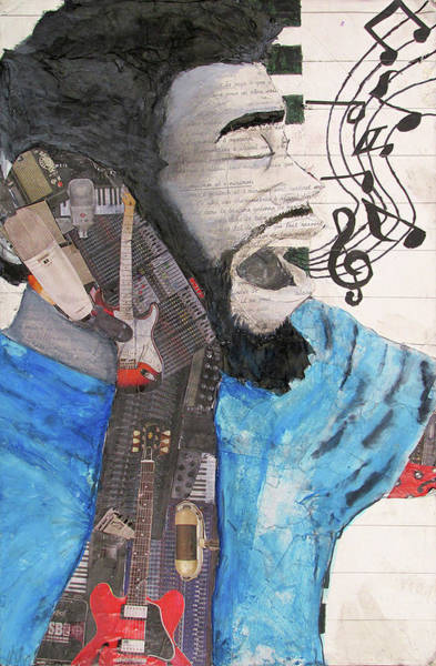 Wall Art - Mixed Media - Instrumental Muse by CozyInks