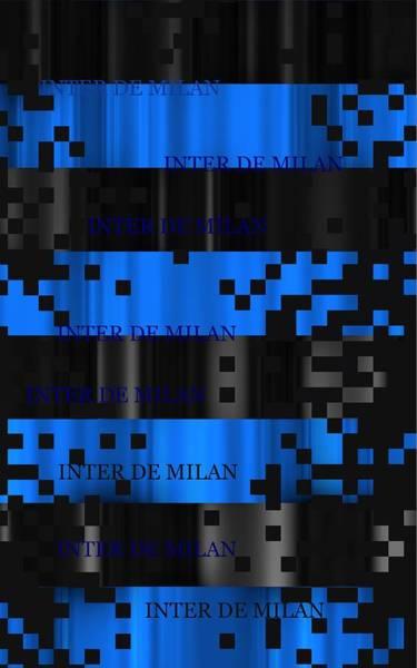 Digital Art - Inter Milan Pixels by Alberto RuiZ