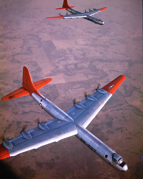 Photograph - Intercontinental B-36 Bomber Flying by Loomis Dean