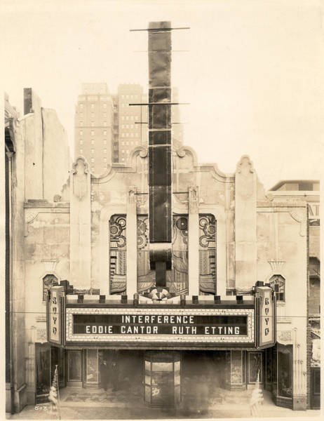 Photograph - Interference, Boyd Theatre by Unknown
