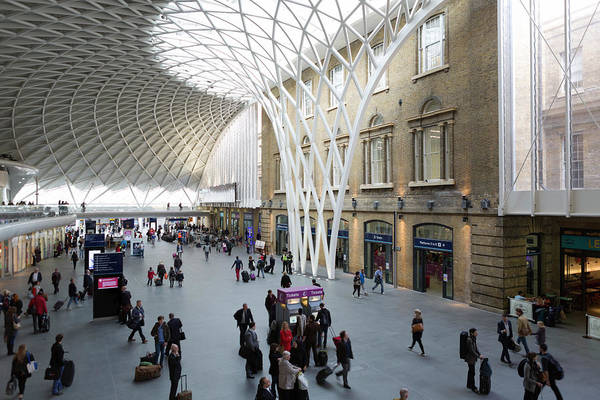 Station Of The Cross Photograph - Interior Antrim, Kings Cross Station by Chris Mellor