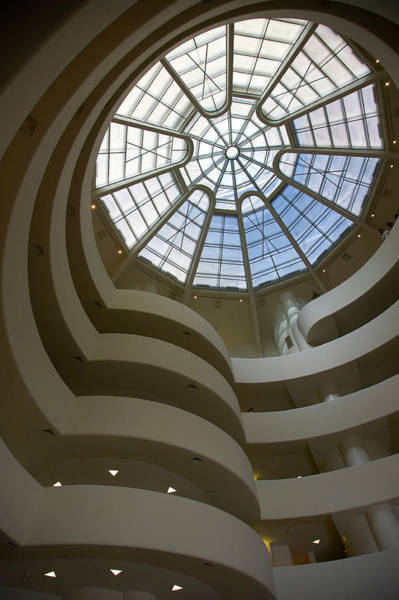 Architects Photograph - Interior Atrium With Spiral Ramp And by Barry Winiker