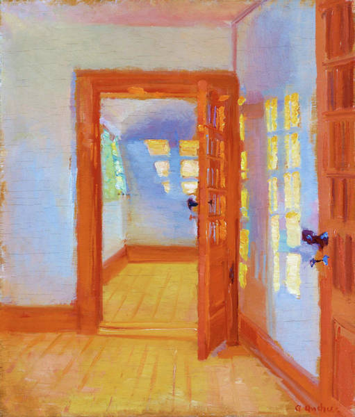 Wall Art - Painting - Interior, Brondum's Annex - Digital Remastered Edition by Anna Ancher