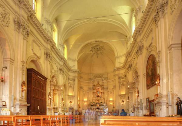 Wall Art - Photograph - Interior Franciscan Church Chiesa Di San Francesco D Assisi All Immacolata Noto Vale Di Noto by imageBROKER - Torsten Krueger
