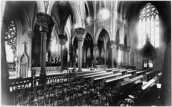 Photograph Photograph - Interior Garden City Cathedral by The New York Historical Society