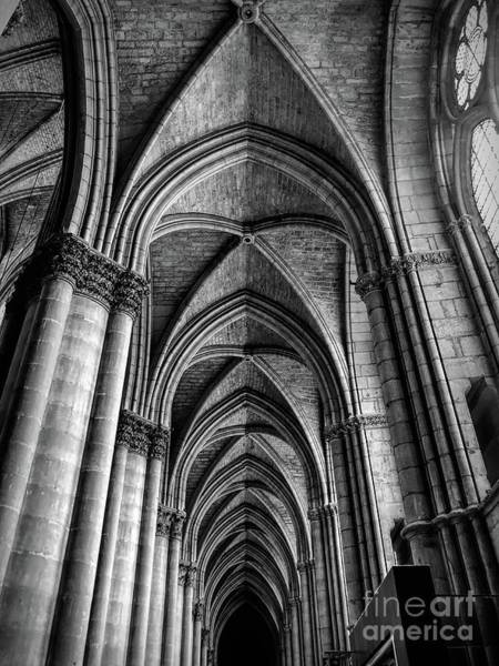 Photograph - Interior Notre-dame Cathedral Reims France by Luther Fine Art