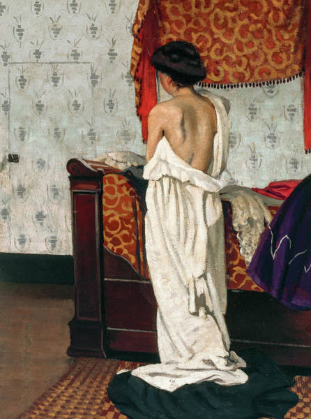 Wall Art - Painting - Interior, Nude Seen From Behind, 1902 by Felix Vallotton