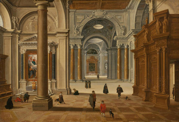 Wall Art - Painting - Interior Of A Baroque Church by Bartholomeus van Bassen
