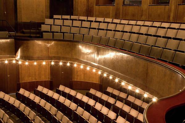 Auditorium Photograph - Interior Of An Illuminated Art Deco by Adam Burn