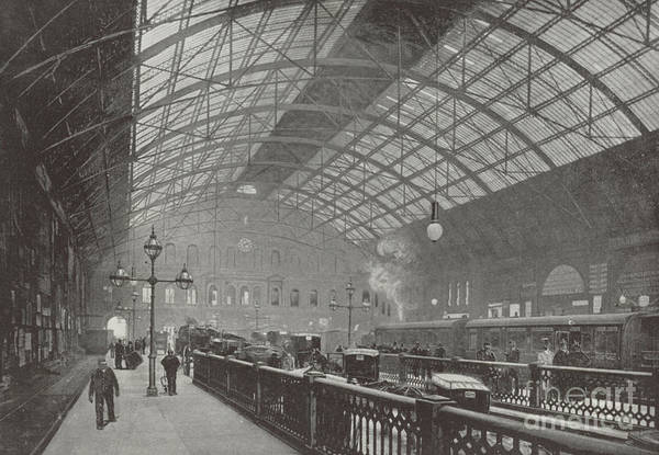 Wall Art - Photograph - Interior Of Charing Cross Station  by English School