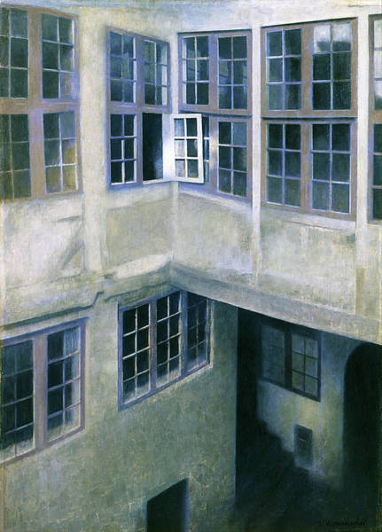 Wall Art - Painting - Interior Of Courtyard, Strandgade 30 - Digital Remastered Edition by Vilhelm Hammershoi