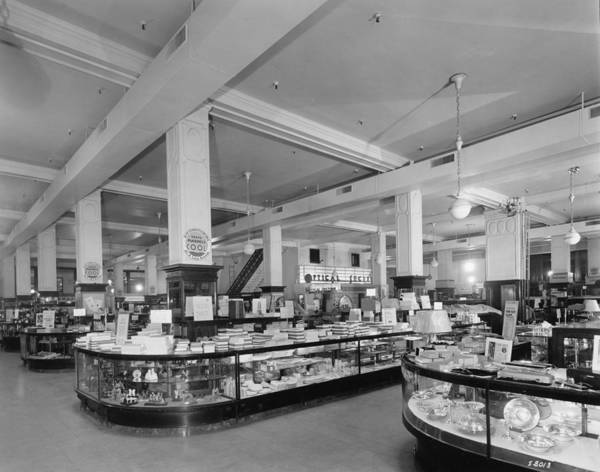 Merchandise Photograph - Interior Of Mandel Brothers Department by Chicago History Museum