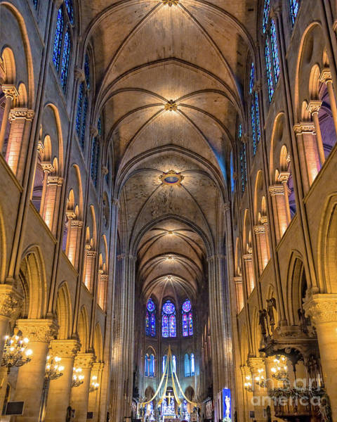 Wall Art - Photograph - Interior Of Notre Dame De Paris by Delphimages Photo Creations