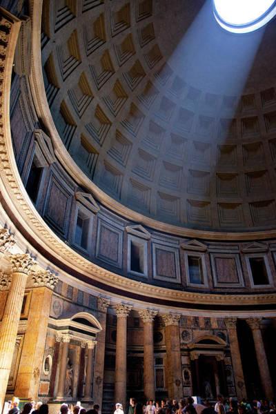 Rotunda Photograph - Interior Of Pantheon In Rome, Lazio by Danita Delimont