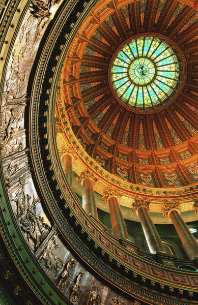 Springfield Illinois Wall Art - Photograph - Interior Of Rotunda Of State Capitol by Richard  Cummins