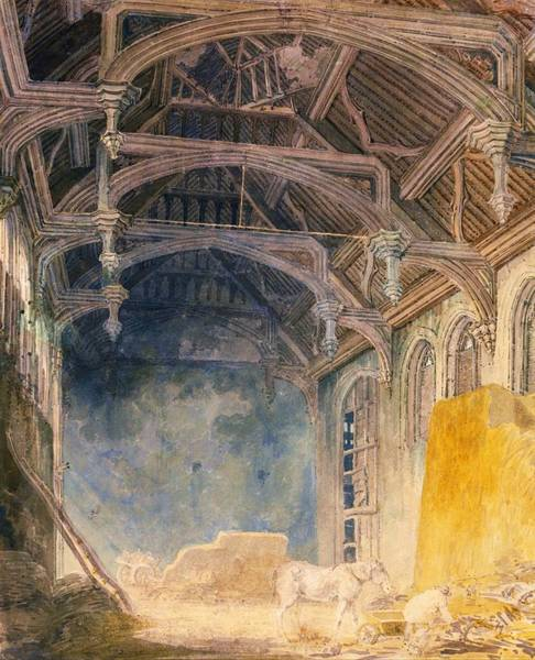 Wall Art - Painting - Interior Of St. John's Palace, Eltham - Digital Remastered Edition by William Turner