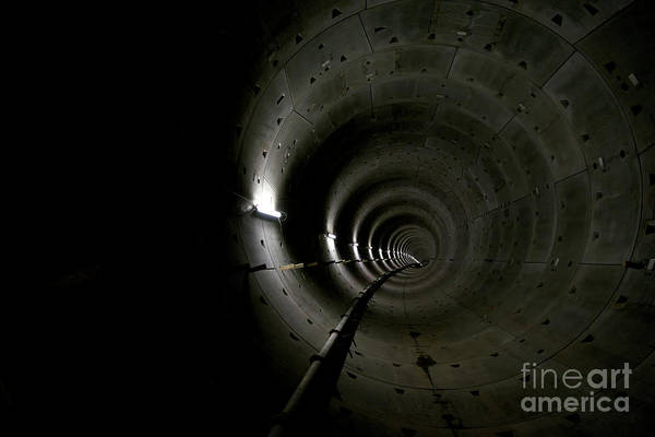 Wall Art - Photograph - Interior Of Subway Tunnel by Jeroen Mooijman