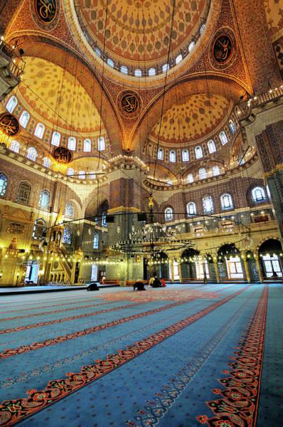 Wall Art - Photograph - Interior Of The Mosque Where Prayer by Burdem