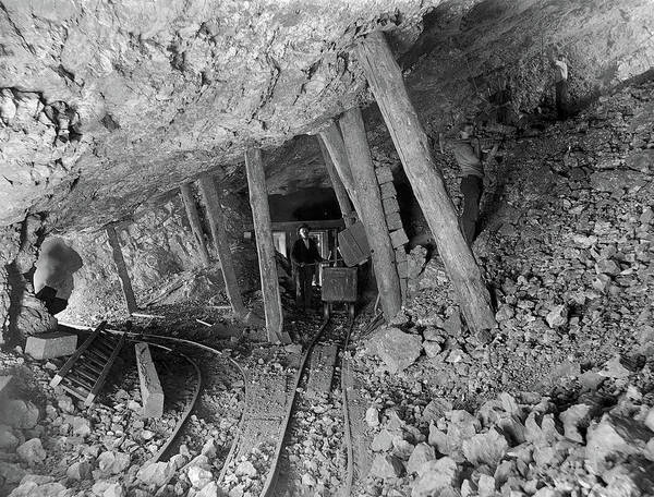 Photograph - Interior View Of The Bagdad Mine - Ludlow, California -  Circa.  by Doc Braham