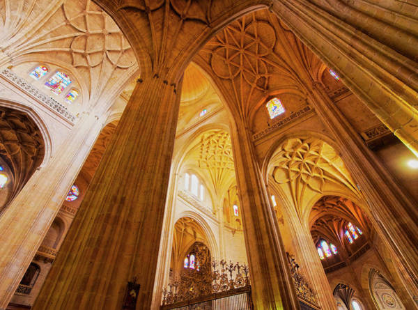 Wall Art - Photograph - Interior View Of The Cathedral Segovia Castile And Leon Spain by imageBROKER - Karol Kozlowski