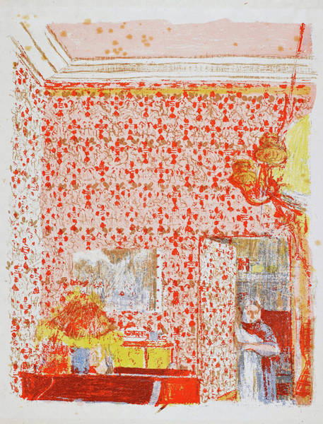 I Dream Painting - Interior With Pink Hangings I - Digital Remastered Edition by Edouard Vuillard
