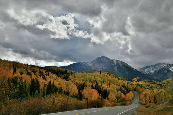 Photograph - Intermittent Light On Fall Colors Along Highway 145 In Co by Ray Mathis