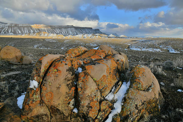 Photograph - Intermittent Sunlight On Book Cliffs by Ray Mathis