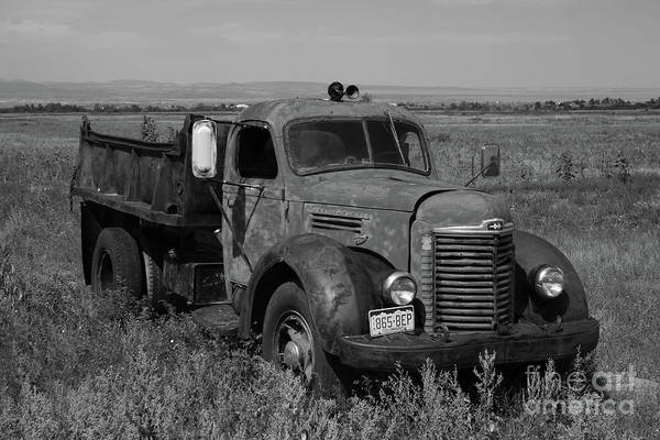 Photograph - International Dump Truck by Tony Baca