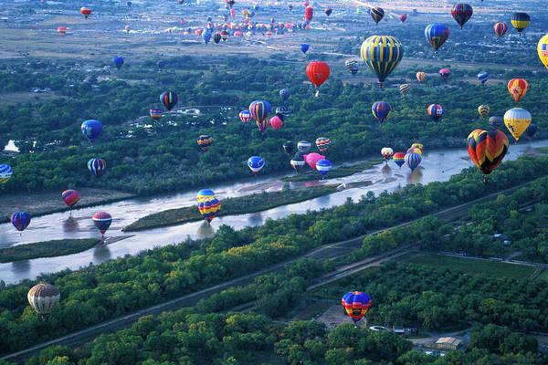 High Water Mark Photograph - International Hot Air Balloon Fiesta by Mark Newman