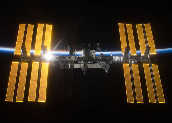 Wall Art - Digital Art - International Space Station by Filip Hellman