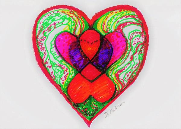Drawing - Intersections Of The Heart by Denise F Fulmer