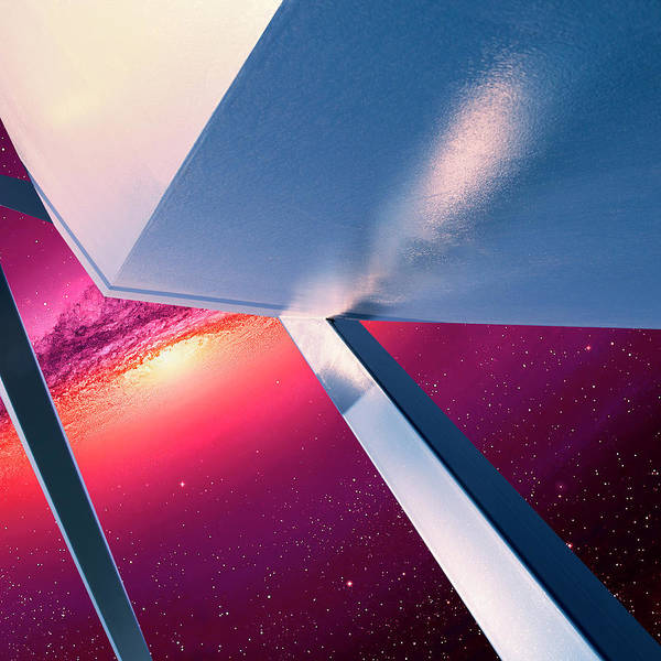 Wall Art - Photograph - Interstellar Ruby Rush Rise Of Abstraction by William Dey