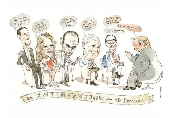 Donald Trump Painting - Intervention For The President by Barry Blitt