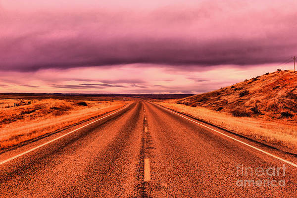 Middle Of Nowhere Photograph - Into Nothingness  by Jeff Swan