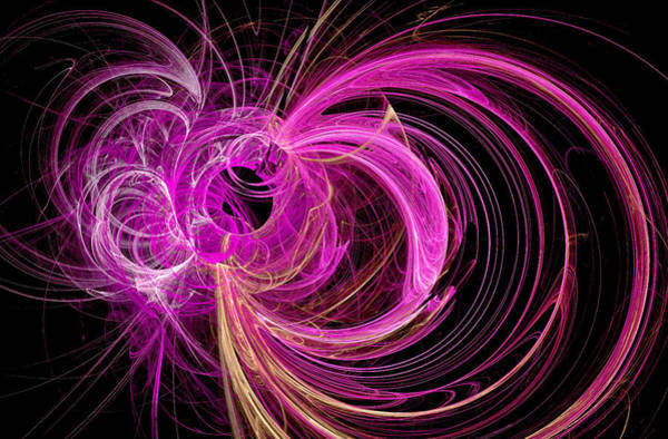 Digital Art - Into The Beyond Abstract Pink by Don Northup