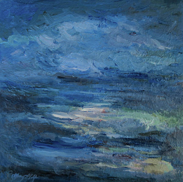 Painting - Into The Blues by Mary Wolf
