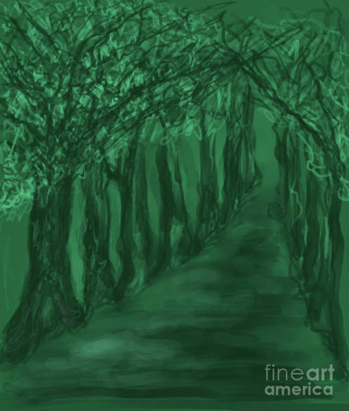 Digital Art - Into The Forest by Annette M Stevenson