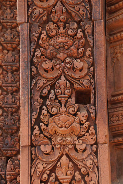 Photograph - Intricate Carvings Cover The Walls Of The Temple by Steve Estvanik