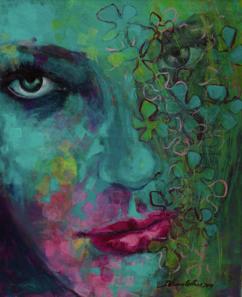 Wall Art - Painting - Introspection 2 by Dorina Costras