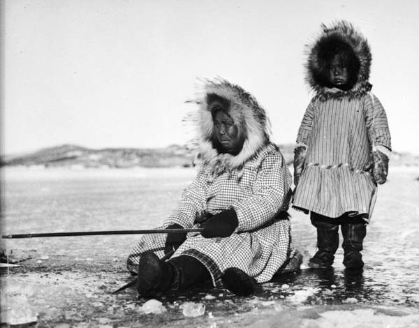 Sport Fish Photograph - Inuit Fishers by Evans