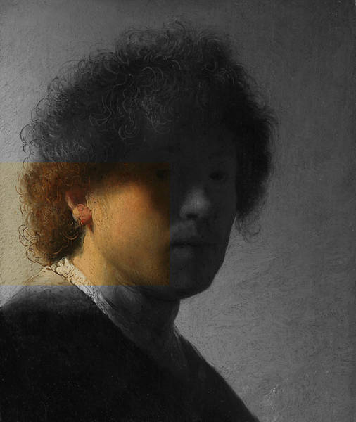 Digital Art - Inv Blend 16 Rembrandt by David Bridburg