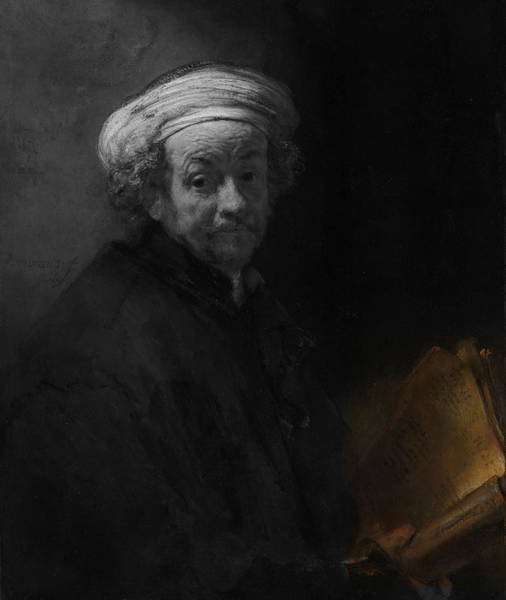 Digital Art - Inv Blend 22 Rembrandt by David Bridburg