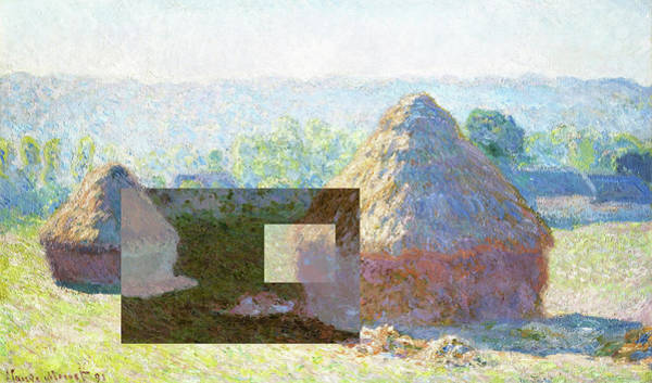 Digital Art - Inv Blend 9 Monet by David Bridburg