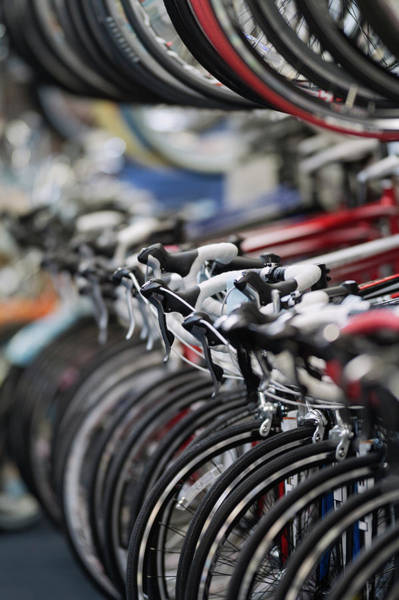 Texas A Photograph - Inventory At Bicycle Shop by Stewart Cohen