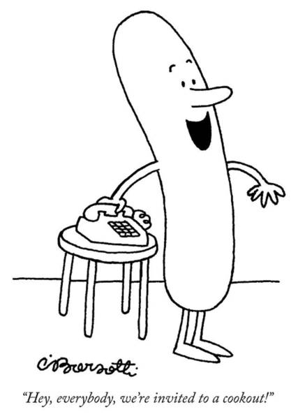 Death Drawing - Invited To A Cookout by Charles Barsotti
