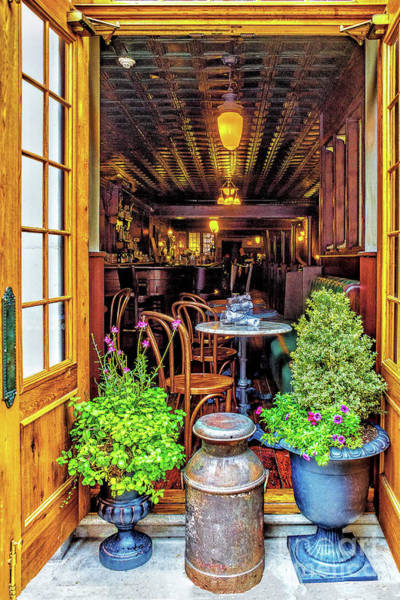 Photograph - Inviting Table In Olde City by Nick Zelinsky