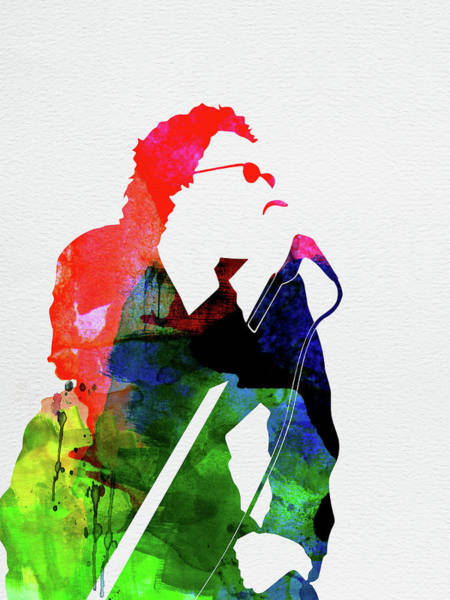 Jazz Mixed Media - Inxs Watercolor by Naxart Studio