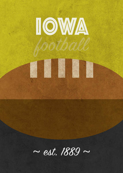 Wall Art - Mixed Media - Iowa College Football Team Vintage Retro Poster by Design Turnpike