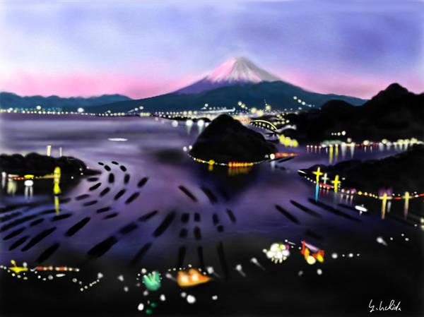 Painting - iPad sketch 1.28.19 Mt Fuji by Yoshiyuki Uchida
